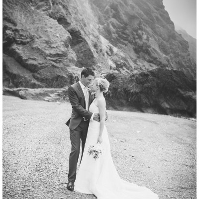 Jenna & Chris - Tunnels Beach wedding, Devon