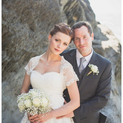 Julia & Nigel - Tunnels Beach Wedding, Devon