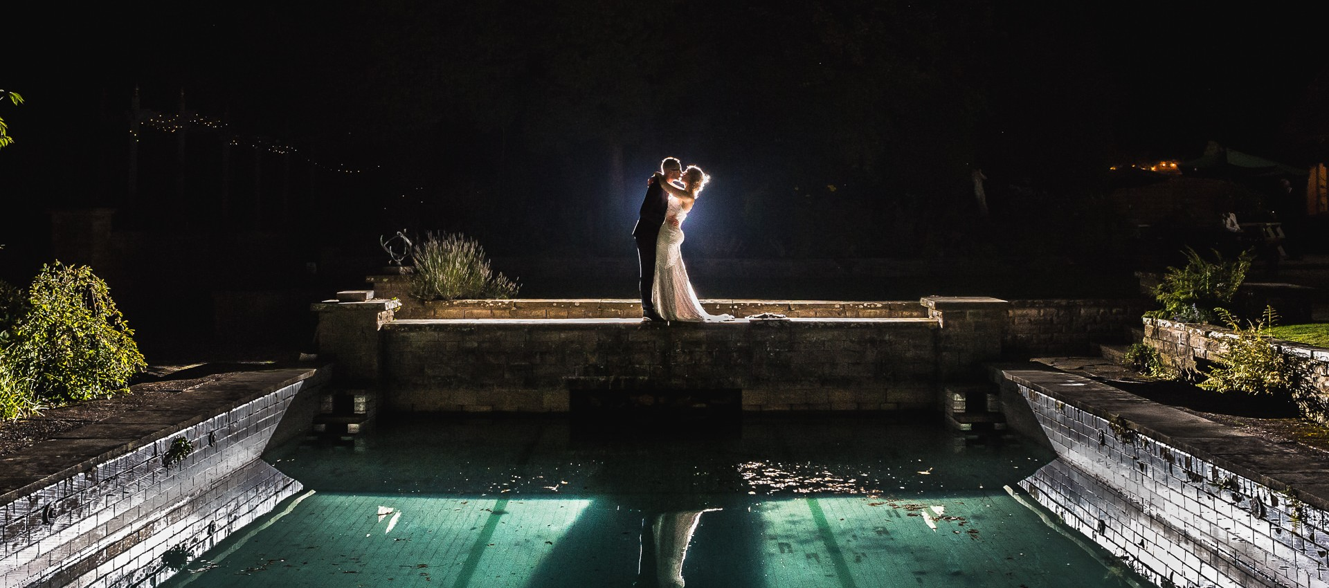 creative nighttime wedding photography staffordshire